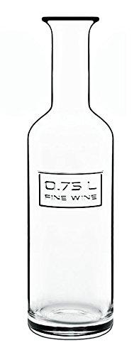 Luigis Beverage Collection (Luigi Bormioli Optima Wine Bottle, 0.75-Litre, Clear)