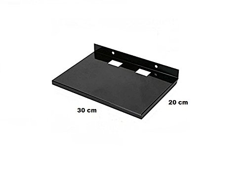 ACCENT Set Top Box/Dth and Multi Purpose Metal Wall Mount Stand (Black, Large) at amazon