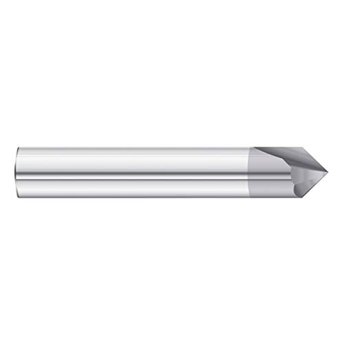 Fullerton Tool 36174 90-Degree 3//16 x 2 Solid Carbide TiAlN Chamfer Mill