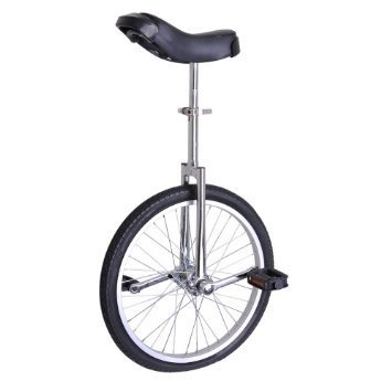 24 Inch Classic Chrome/Black Unicycle