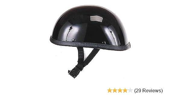 Medium Hot Rides Classic Chopper Biker Motorcycle Helmet Novelty For Cruiser Harley Scooter ATV Eagle Gloss Black