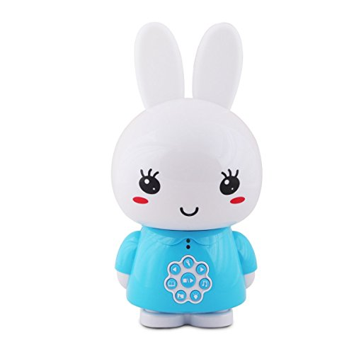 Bunny Soother - alilo Honey Bunny 8GB Baby MP3 Player Sleep Soother for Toddler Music Toy with Voice Recorder / Story Song/ White Sound (Blue)