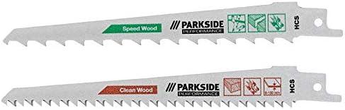 bois + plastique m/étal fin PFSZP 3 A1 pour Parkside PSSA Lames de scie sabre PARKSIDE Performance 2 pcs bois + plastique, d/échets verts, m/étal fin