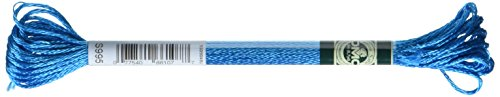 - DMC 1008F-S995 Shiny Radiant Satin Floss, Aurora Blue, 8.7-Yard