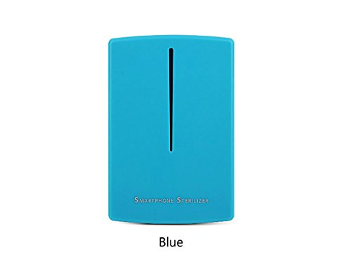 Mobile Phone Sanitizer UV Light Cell Phone Disinfector Smartphone Portable Sterilizer and Phone USB Charger (Blue)