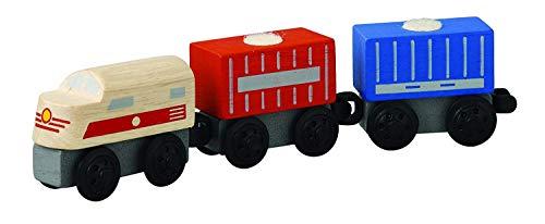 Plan Toys Train - PlanToys Plancity Push And Pull Cargo Train