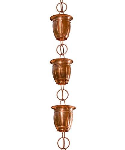 Monarch Pure Copper Midori Rain Chain, 8-1/2 Feet (Japanese Rain Chains)