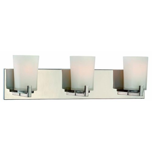 Hampton Bay Wellman 3-Light Polished Nickel Bath Light