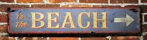 TammieLove To The Beach Arrow Sign for Indoor Outdoor Yard Street Signs 16x4 inches