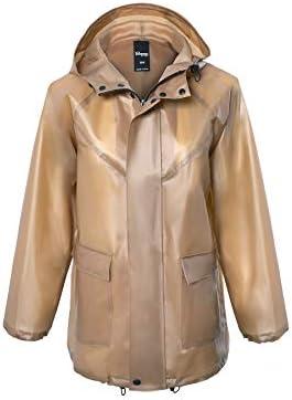 [Copper Infused Raincoat] VForce Women's Lightweight Hooded Water-resistant Packable Active Outdoor Anorak Jacket