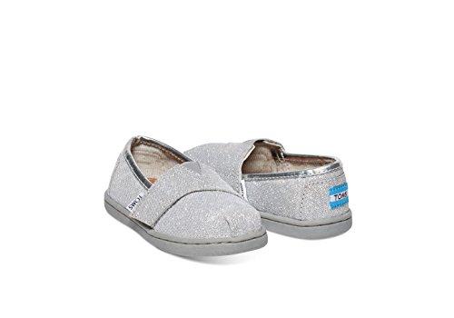 TOMS Kids Unisex Seasonal Classics (Infant/Toddler/Little Kid) Silver Glimmer Loafer 2 Infant M - Image 2