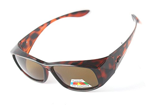 Fitover Polarized Sunglasses to Wear Over Regular Glasses (Tortoise, - Glasses Over Wear You Your Sunglasses