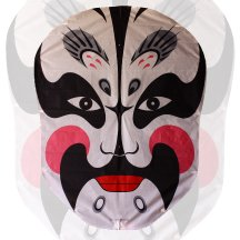 Chinese Opera Face Kite - White