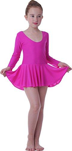 Seawhisper Children Dance Costumes Ballet Leotards Tutu Girls Dresses Skirts(Long hot pink, Medium) (Dance Costumes On Stage)