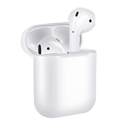 Wireless Earbuds Bluetooth 5.0 Headphones, True Wireless Stereo Earphones, Hi-fi Sound Bluetooth Headset with Charging Case, One-Step Pairing White