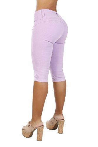 Curvify Women's Butt-Lifting Jeans Capris | High-Rise Waist 764 (13 fits a 34