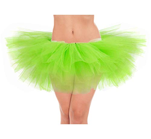 belababy Women Green Tutu Teen Girl Fairy Dress Up Skirt, One Size, Green]()