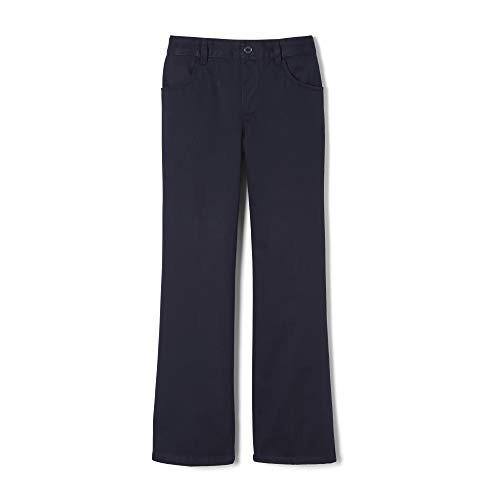 French Toast Big Girls' Pull-On Pant, Navy, 10 (Navy Blue Uniform Pants Girls)