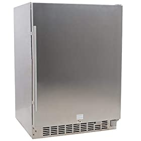 EdgeStar 24 Inch Wide 142 Can Built-in Outdoor Beverage Cooler