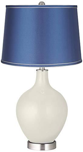 Vanilla Metallic - Satin Blue Shade OVO Table Lamp - Color + Plus ()