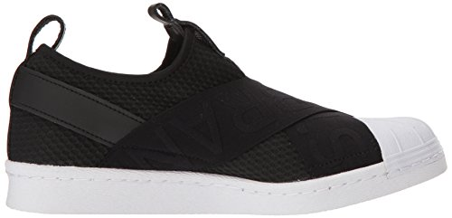 Adidas Originals Women's Superstar Slipon W Sneaker, Core Black/Core Black/White, 9 M US