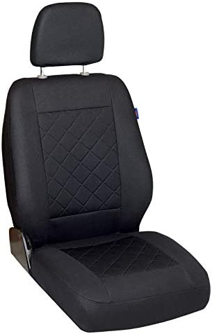 nero 2006//08-2017//12 Coprisedia anteriore grande comfort per Trafic II Camion Plate-Forma//Telaio 1 pezzo