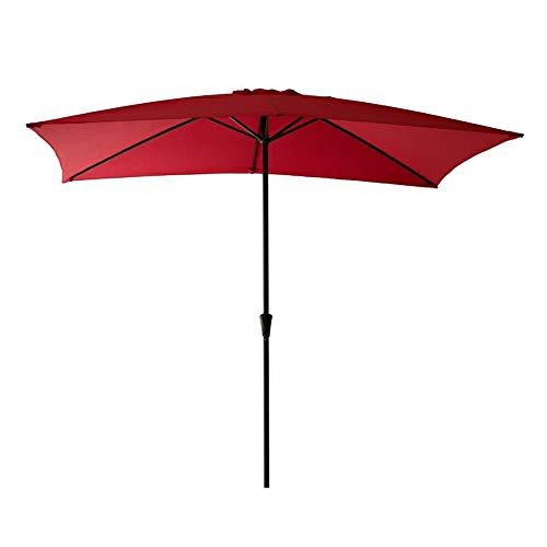 FLAME&SHADE Rectangular Patio Umbrella Outdoor 6'6