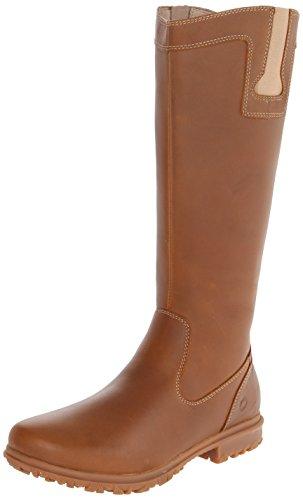 Mossar Kvinna Pärla Tall Läder Boot Tan