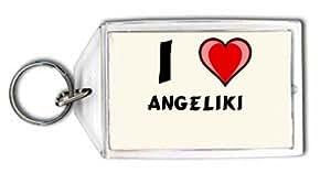 """Llavero con estampado de """"Te quiero"""" Angeliki (nombre de pila/apellido/apodo)"""