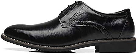DADAWEN Zapatos de boda para hombre, zapatos de negocios, zapatos de vestir de piel