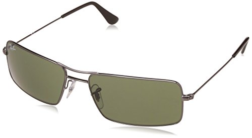 Ray-Ban UV Protected Oversized Men's Sunglasses – (0RB3305I00458|58|Crystal Green Color)
