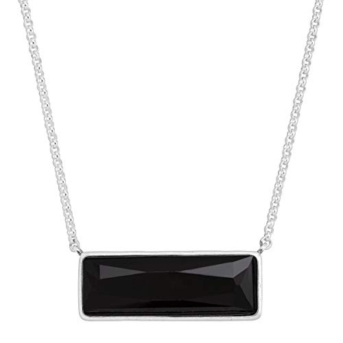 Silpada 'Noire' Jet Black Swarovski Crystal Necklace in Sterling Silver ()