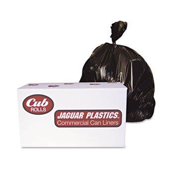 Jaguar Plastics® Industrial Drum Liners, Rolls LINER,38X63,2.7MIL,BK A7072010 (Pack of2)
