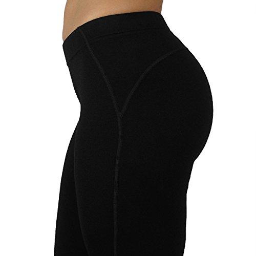 Minus33 Merino Wool 2300 Woolverino Women's Micro Weight Leggings Black Large by Minus33 Merino Wool (Image #5)