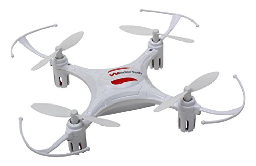 WonderTech Super Mini 6 Axis Gyro 4CH Radio Control Mini Quadcopter Drone Toy With LED Lights, White by WonderTech