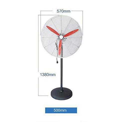 Oficina Ventilador de pie de enfriamiento Industrial de 3 velocidades Tienda RXBD fan Ventilador de Pedestal oscilante Ventilador de pie para Interiores Altura Ajustable F/ábrica