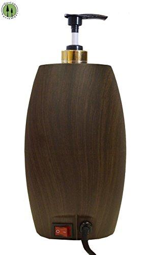 Massage Oil Warmer Lotion Warmer with Bottle Compact Design Dark Wood