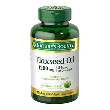 (Nature's Bounty Flaxseed Oil 1200 mg, 125 Rapid Release Softgels (Pack of)