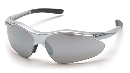 Pyramex Fortress Safety Eyewear, Silver Mirror Lens With Silver Frame