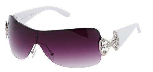 Damen Sonnenbrille Art. 9007, mit durchgängigem Panoramaglas und Strass - erhältlich in 4 verschiedenen Farben