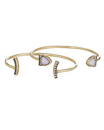 Young & Forever Women's Navratri Diwali Special Lunette Open Cuff Set Gold Toned by Young & Forever