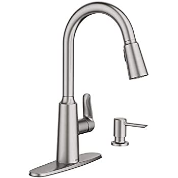 Moen CA87011SRS Single Handle Kitchen Faucet with Pullout ...