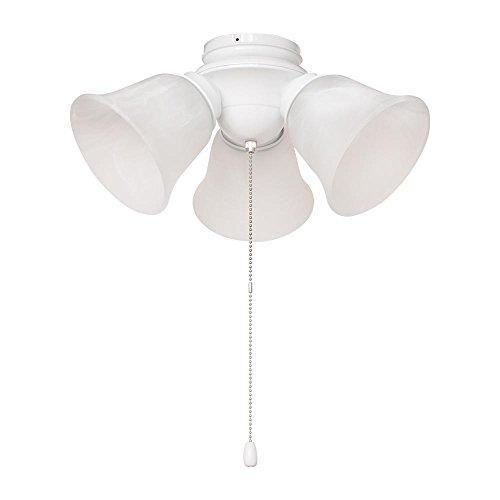 Hampton Bay 3-Light White Alabaster Glass LED Ceiling Fan Light Kit ()