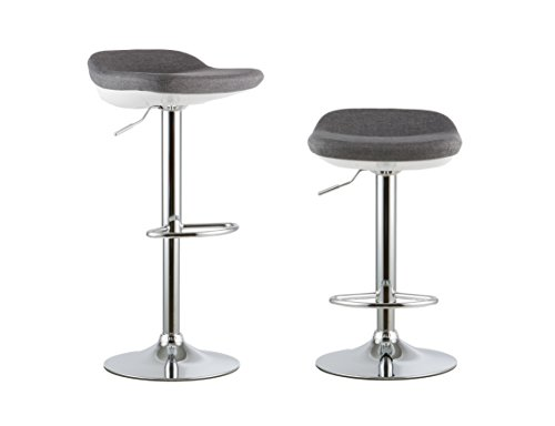 Attraction Design Swivel Bar Stool Set of 2, PU Leather Height Adjustable Barstool Dining Kitchen Chair, Counter Height Modern Hydraulic Pub Kitchen Counter Stool Chairs with Chrome Base B