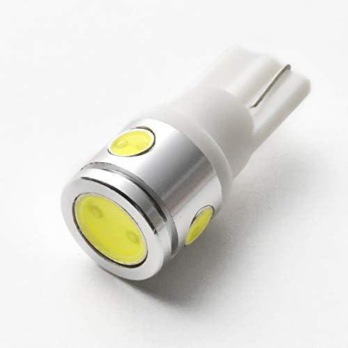 マジ明るい!12V車用 2.5w 4点発光 COB T10 LED ウェッジ球 ホワイト