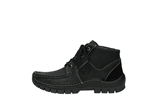Comfort Black Cross À Nubuck 11002 Wolky Lacets Seamy Chaussures Up FqxB4dwH