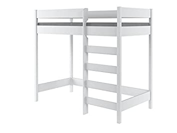 Hubi Loft Bunk Bed Front Enter With Mattress Free Shipping 180x90