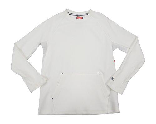 Nike Tech Fleece Mens Crew Sweatshirt 727359 Jumper (Large, White 100) - Nike Leather Jacket