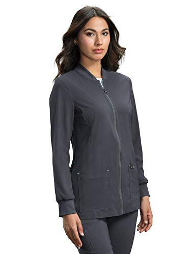 KOI Basics 450 Women's Andrea Scrub Jacket (Charcoal, Medium)