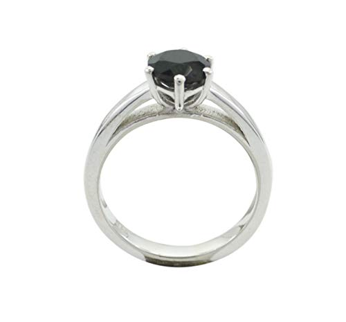 Ordinary 925 Solid Sterling Silver Bonnie Genuine Black Ring, Black Onyx Black Gems Silver Ring -